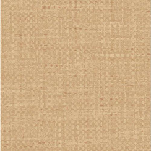 allen-roth-tan-textured-wallpaper