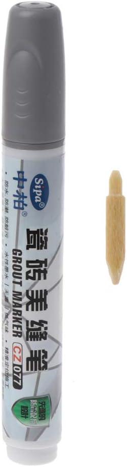 Rtengtunn Grout Pen Tile Repair 3 Colores Pen White Tile Refill Impermeable a Prueba de Moho Blanco