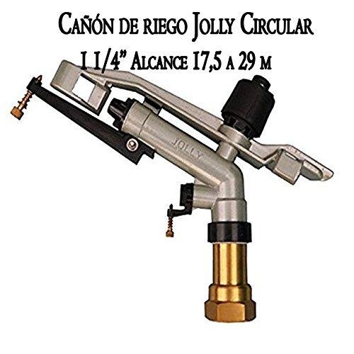 Fabricado en metal Suinga Ca/ñ/ón de riego largo alcance Jolly 1 1//4 Alcance 17,5 a 29 mts onexi/ón 1 1//4 hembra /Ángulo de riego 360/º circular Presi/ón de trabajo 1,5 a 5 bar