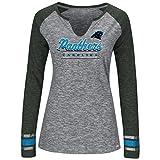 "Carolina Panthers Women's Majestic NFL ""Lead Play 3"" Long Sleeve Raglan Shirt"