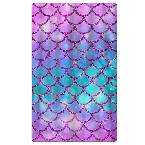 SARA NELL Microfiber Pink Blue Mermaid Fish Scale Beach Towel Quick Dry Towel Pool Bath Towel Beach Blanket for Travel Swim Pool Yoga Camping Gym Sport -30