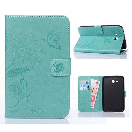 Samsung Galaxy Tab E Lite 7.0 Case -Akristal Slim Fit Folio Stand Leather Cover for Galaxy Tab E Lite SM-T113 / Tab 3 Lite 7.0 SM-T110 / SM-T111 7-Inch - Nu Models Look