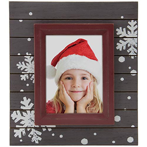 Fine Photo Gifts Winter Snowflake Wood Picture ()