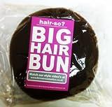 Hair-so? Massive 6 Inches Wide Big Hair Bun Extra Large Hair Doughnut Donut Bridal Wedding Hollywood Hair Style Bun Ring - Choose Colour- Brown, Black or Blonde (Brown)