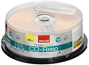Maxell CD-R Photo Pro Series With Spindle, 700MB/80 Minutes, Pack Of 25