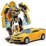 Pepperonz (Jbp Xpreza) Robot To Car Converting Transformer Toy For Kids (Yellow)