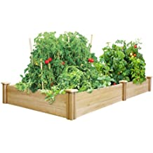 Vegetable planter boxes Keter easy grow elevated flower garden planter