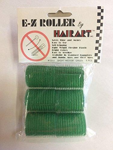 HairArt E-Z Rollers - Short Mini Green - (Pack of 6)