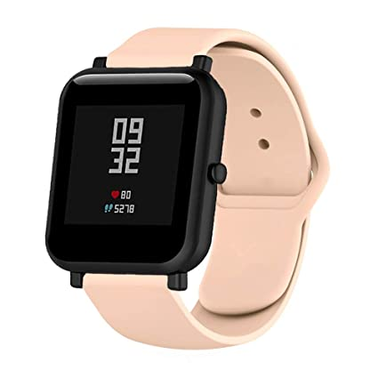 Klaas NIC 20mm Rubber Band Compatible with Samsung Galaxy Gear Sport,Quick Release Strap for Amazfit Bip/GTR 42m/Huawei 2/Ticwatch 2/S/E/Moto 360 2nd ...