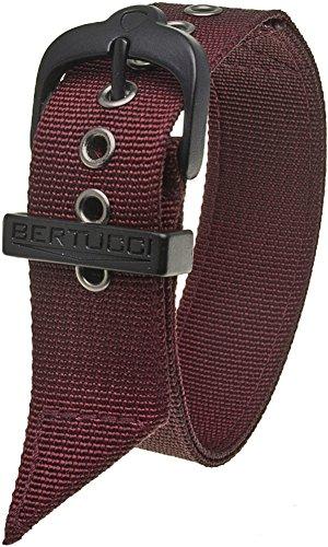 Bertucci B-38 22 mm Crimson Nylon Watch Band, Fits A-2T, A-3T, B-1T, D-1T, G-1T, A-2S, - Mens D&g Watches