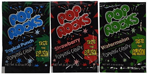 Assorted POP ROCKS Candy Packs (1 dz),Each pack is 0.33 oz (9.5 (Pop Rock Candy)