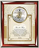 Daughter or Son Wedding Best Wishes Poem Clock from Parents Congratulations Present from Mom and Dad