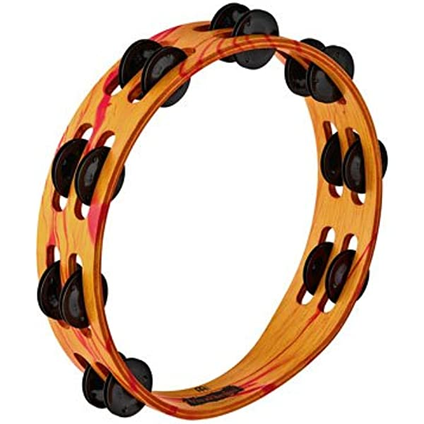 Professional Playing Tambourine A Variety Of Colors Available Can Use Square Dance Rehearsal And Childrens Music Enlightenment Tambourine red, 21 14cm Color : Green-2114cm