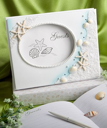 Finishing Touches Collection Beach Themed Wedding Guest Book]()