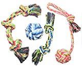 Doggerino Pet Supply- Rope Chew Toys - Set of 4 Premium Rope Toys Dog - Mental Stimulation Teeth Cleaning Dog - Best Tough Toys Agressive Chewers
