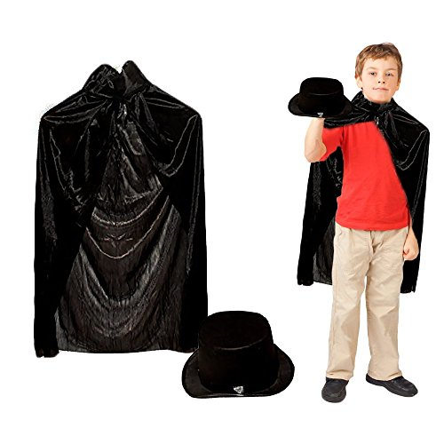 Toy Cubby Adorable Pretend and Play Magician Cape and Magician Hat - 1 Set -
