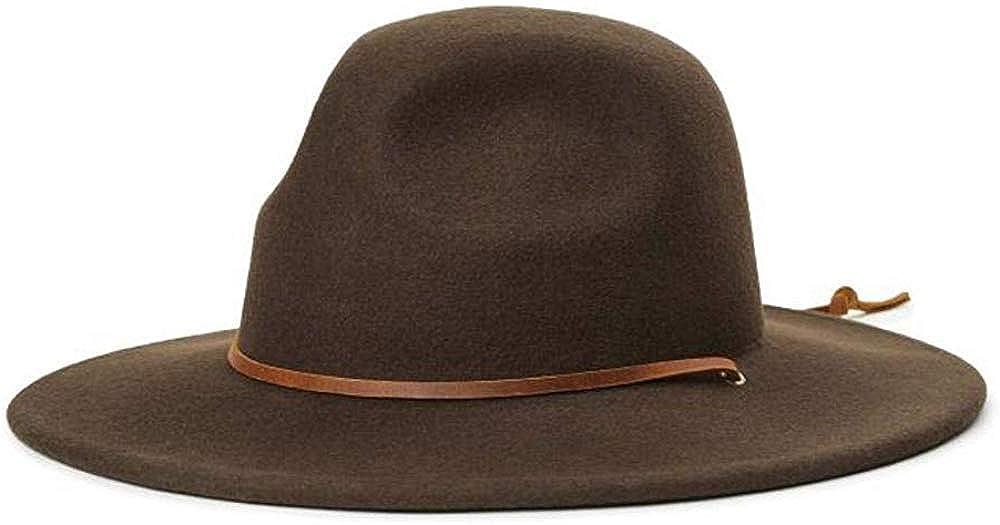 BRIXTON Mens Tiller Iii Wide Brim Felt Fedora Hat