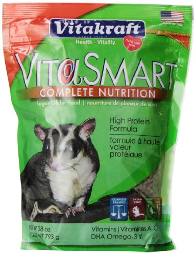 (Vitakraft Vitasmart Sugar Glider Food - High Protein Formula, 28 Ounce)