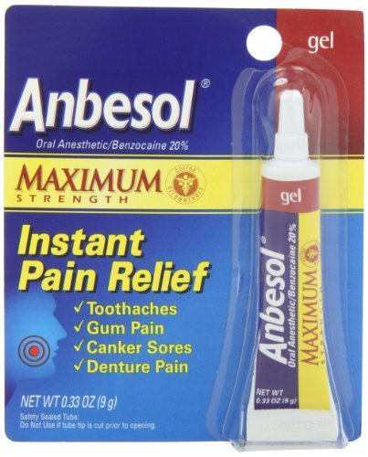 Anbesol Force Maximum Gel anesthésique par voie orale, 0,33 once Tube (Pack de 3)