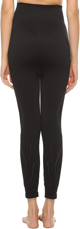 JOJOANS Women High Waist Stretch Yoga Pant Cutout Hollow Tummy Control Workout Running Skinny Leggings
