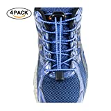 BESTYE No Tie Shoelaces, 5 Pair Adults & Kids Elastic Shoe Laces No Tie for Sneaker Boots Board Shoes, Athletic Running Shoe and Casual Shoes