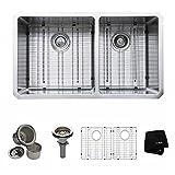 Kraus KHU103-33 33 inch Undermount 60/40 Double Bowl 16 gauge Stainless Steel Kitchen Sink