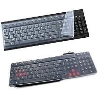 AkoMatial - Funda protectora universal para teclado (silicona, 108 teclas), Multicolor, 1
