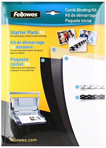 Fellowes Comb Binding Starter Kit, 10 Pack (5290101) Comb Binding Kit