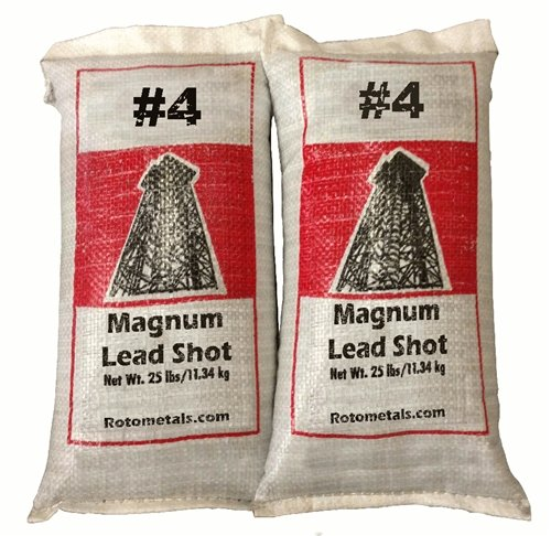 Magnum Lead Shot #4 50 pounds 2-25 Pound Bags