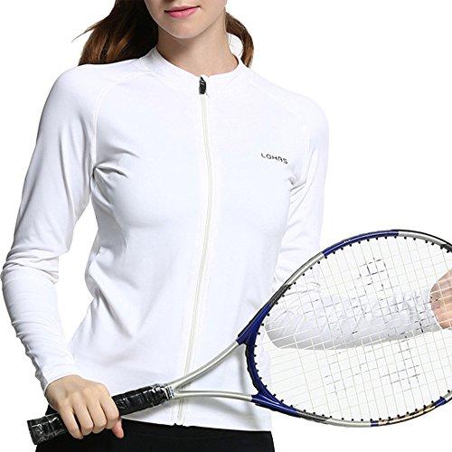 (Beauty_yoyo Women Slim Sport Jacket Stretchable Full Zip-Up Activewear Workout Coat )