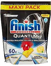 Finish, Quantum Ultimate, 60 vaatwassertabs, 1 verpakking met 60 tabletten, citroen - 840 g
