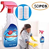 Multi Functional Stain Remover Effervescent Spray Cleaner Set with Bottle Home Cleaning Stain Remover Laudry Stain Remover (50PCS with Bottle)