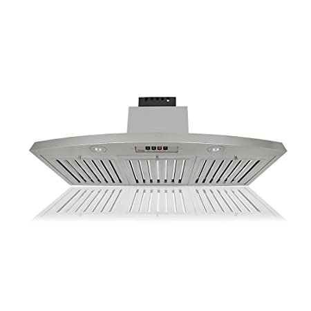 KOBE RAX2830SQB-2 Brillia 30-inch Under Cabinet Range Hood, 3-Speed, 650 CFM, LED Lights, Baffle Filters