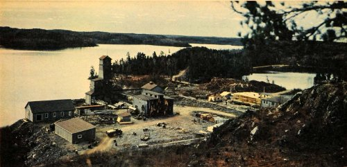 1943 Print Canada Rock Lake Laurentian Iron Ore Mining Water Town Metal Resource - Original Color - Originals Ore Canada