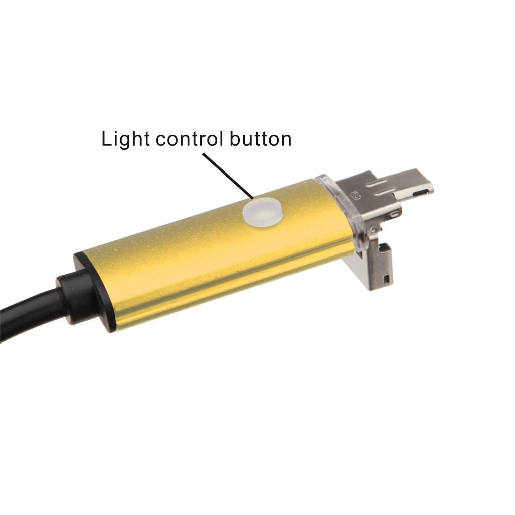 10 m Largo Negro 5 m 7 mm Endoscopio Boroscopio C/ámara Tubo de Inspecci/ón Impermeable con USB 6 LEDs 2 m 5m