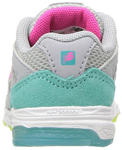 New Balance Girls' 888v1 Running Shoe, Silver Mink/Rainbow, 6 W US Big Kid by New Balance (Image #2)