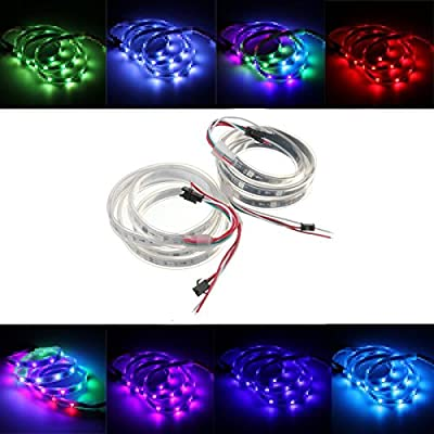 Led Strip Lights - Ws2811 1m Led Strip 30 Smd 5050 Rgb Dream Color Waterproof Ip65 Dc 12v - 1PCs