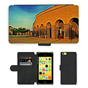 Hot Style Cell Phone Card Slot PU Leather Wallet Case // M00169534 Vaulted Cellar Tunnel Arches Keller // Apple iPhone 5C