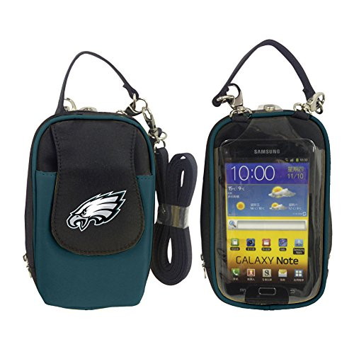 (Charm14 NFL Philadelphia Eagles Women's Crossbody Cell Phone Purse XL -Fits All Phones by Little Earth)