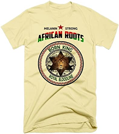Black History Month African Roots Grey T-Shirt By Warface Apparel Inc