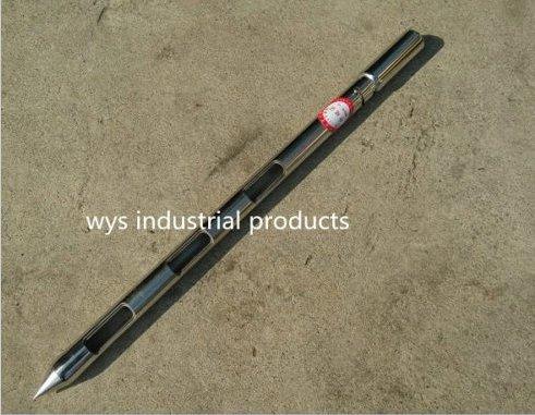 304 Stainless steel sack bag sampling double tubes sampler probe granule slots solid thief (25mm1.5m(4slots))