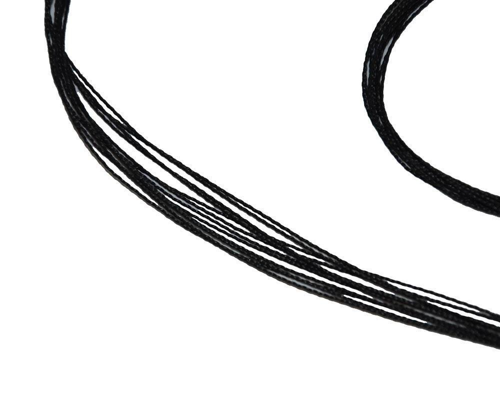 toparchery All Black 45-65 inches Double Loop Replacement 12 Strand Bow String Bowstring Handmade Custom Bow string For Recurve Longbow Horsebow