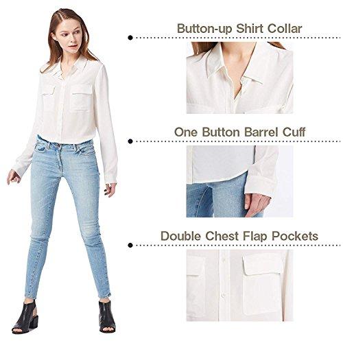f747c975bfa70d LilySilk Women's 100% Silk Blouse Long Sleeve Ladies Shirts 18 Momme Silk