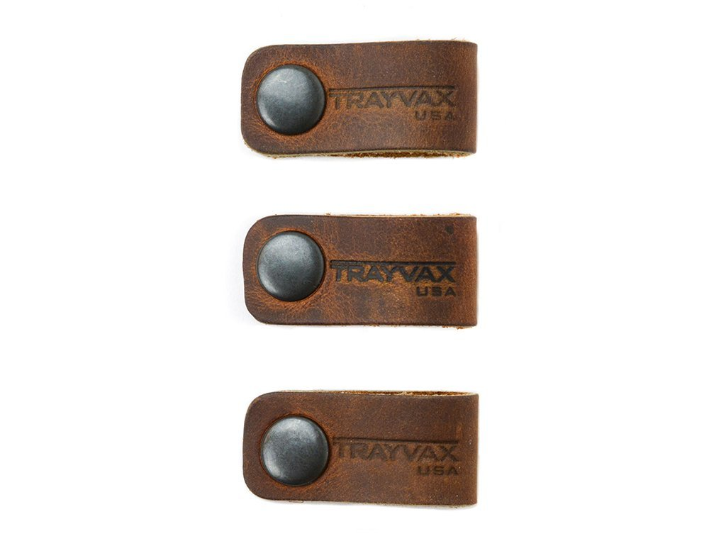 Trayvax Cord Wranglers Top Grain Leather For Organizing Cables, Wires, Cord