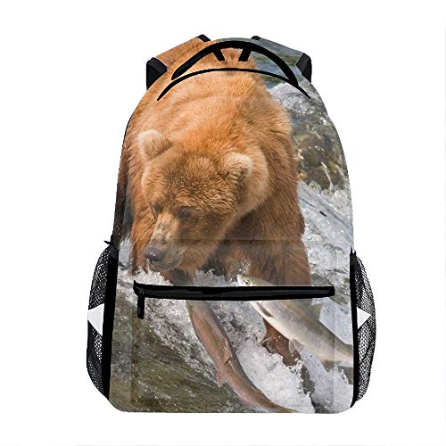 Water Bear Fish River Fishing Grizzly Backpack for
