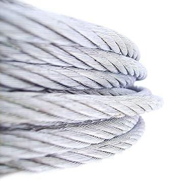 200m Seil Draht DRAHTSEIL 1,5mm 6x7 VERZINKT Drahtseil Stahlseile nach 1m