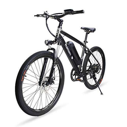 Rattan 26 inch Aluminum Electric Mountain Bike Shimano 7 Speed E-Bike 36V 10.4Ah Lithium Battery 350W Electric Bicycle 26 inch Adult Assisted E-Bike Aluminum Mountain Bike Frame