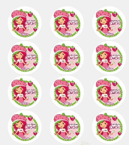 (Twelve 2 Strawberry Shortcake Edible Cupcake Images Toppers Decorations by Deco)