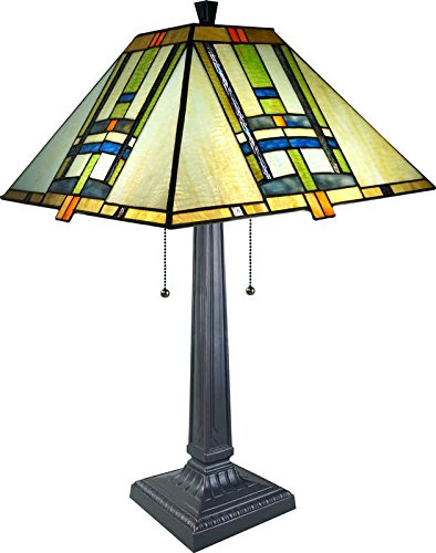 Frank Lloyd Wright Stained Glass Table Lamp - 25