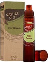 Nature Nut Hair Serum – (1.69 oz) Naturally Tame and Treat Unruly, Frizzy, Dry, and Damaged Hair with Argan, Macadamia, Coconut, and Brazil Nut Oils, and Shea Butter